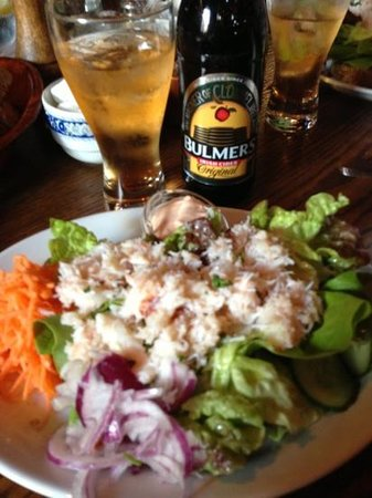 The Purple Heather Restaurant: The open crab sandwich