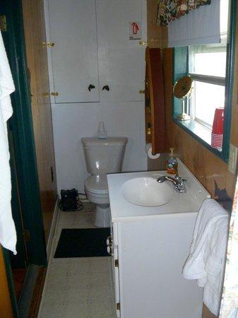 Cedars Cabins: toilet half of bathroom