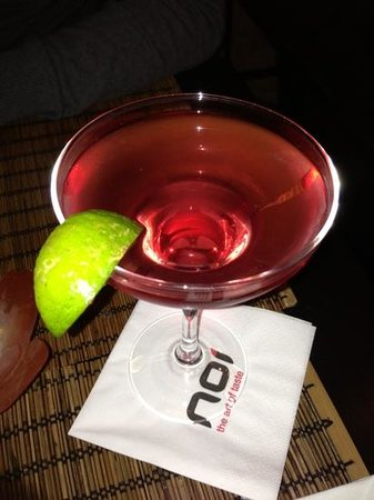 NOI- The Art of Taste: lychee cosmopolitan