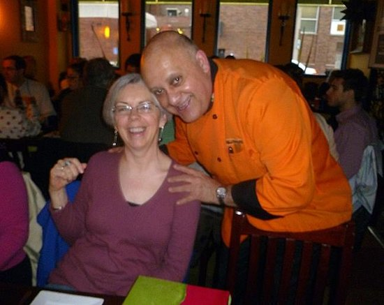 New Rebozo Mexican Restaurant: Chef Paco and one of his most favorite customers (as is everyone)
