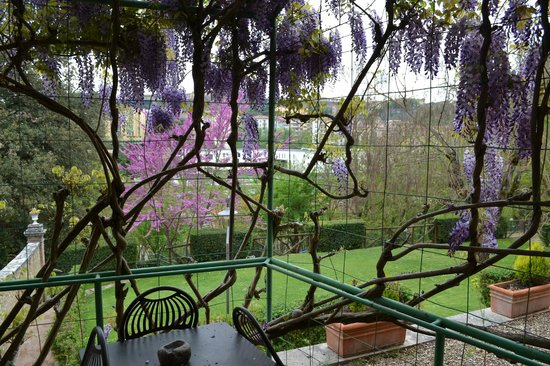 Borgo Grondaie: Dalla finestra dell'appartamento Olivi 3.