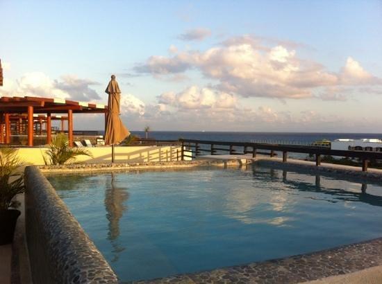 Aldea Thai Luxury Condohotel: ocean view from rooftop patio of condo 329