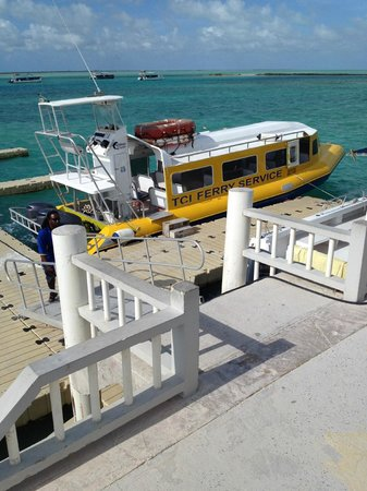 Downtown Providenciales: Ferry to Middle Caicos at opposite end of island from airport