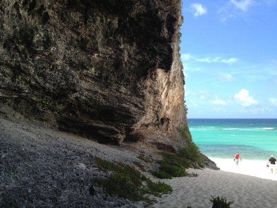 Downtown Providenciales: At the top of this cliff is the newly built bar on Middle Caicos