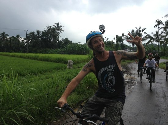 We Are Family Bali Cycling Tours: We used a Go Pro camera to capture our experience