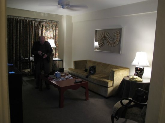 Hotel Lombardy: Living room with fold out couch