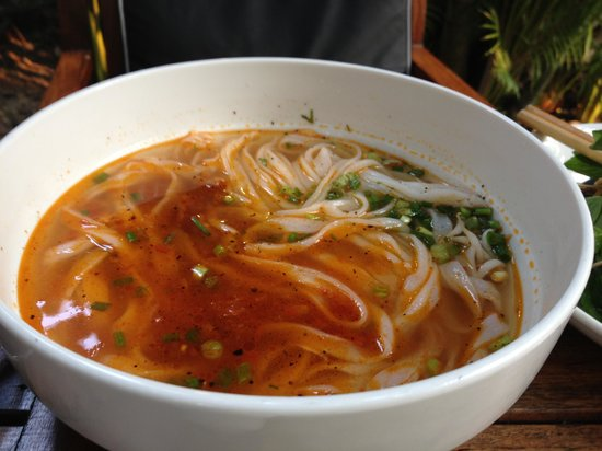 Lotus Villa Boutique Hotel: Noodle soup at breakfast