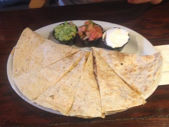 Point Break Cafe: Chicken quesadillas -- large portion