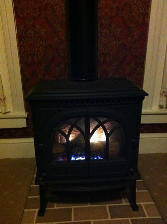 Country Patches B & B: Fireplace in Royal Suite