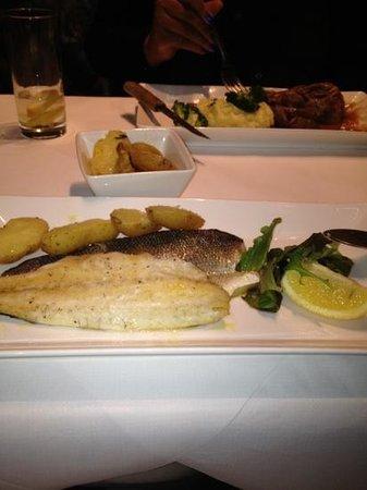 Salieri Restaurant : sea bass and lamb shank in back