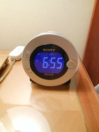 Kitano New York: Clock radio that is iPod/iPhone compatible.