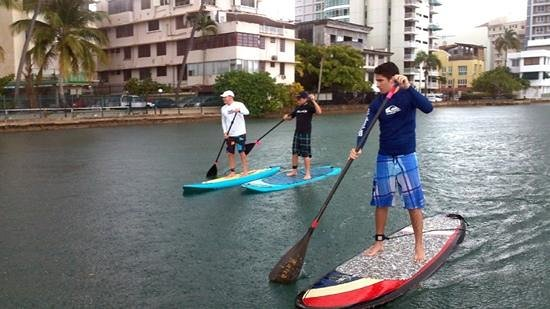 Puerto Rico Paddle Board Tours: Paddleboarding under the rain