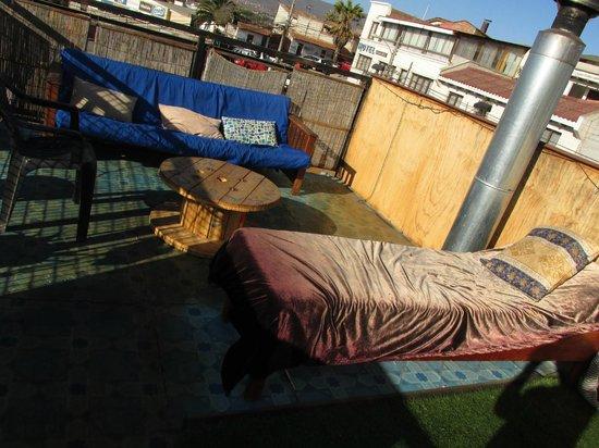 Aji Verde Hostel: Terraza