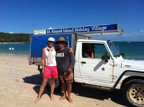 Great Keppel Island Holiday Village: With Geoff and the village vehicle