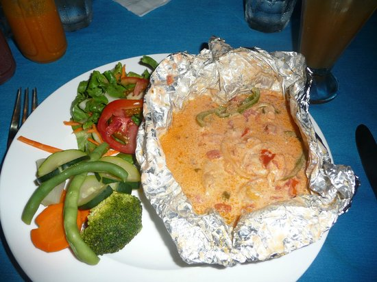 Tranquility Bay Resort: Caribbean style preparation of our fresh catch