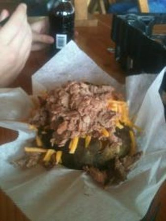 Rudy's: Brisket Baked Potato - YUMMM!