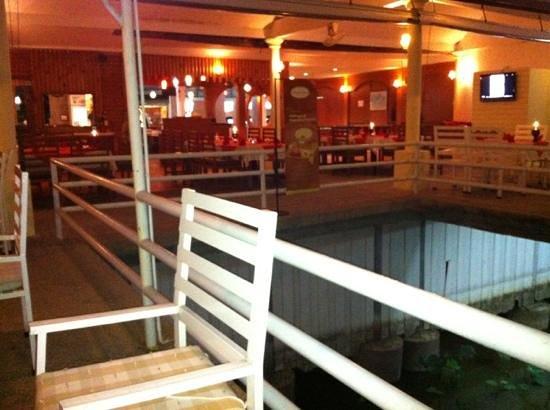 Chaba: steel chairs and railing