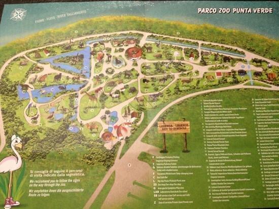 Lignano Cartina Geografica.Mappa Del Parco Foto Di Parco Zoo Punta Verde Lignano Sabbiadoro Tripadvisor