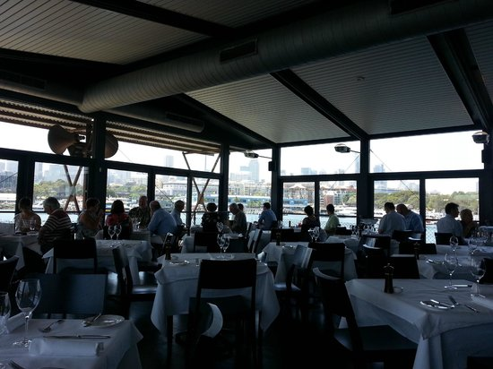 The Boathouse on Blackwattle Bay: View in restaurant