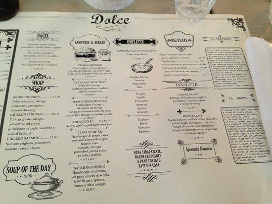 menu completo per una cena