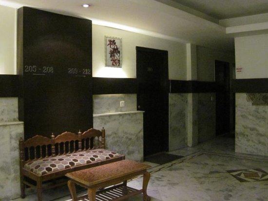 Hotel Gautam Deluxe: 廊下