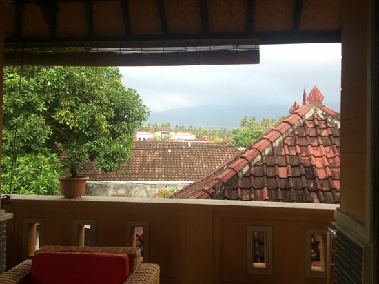 Gede Homestay: View of mountains - little cloudy during picture