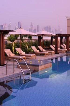 Ramada Jumeirah: The Pool at Dusk