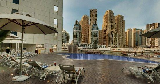 Lotus Hotel Apartments & Spa, Dubai Marina: Pool View