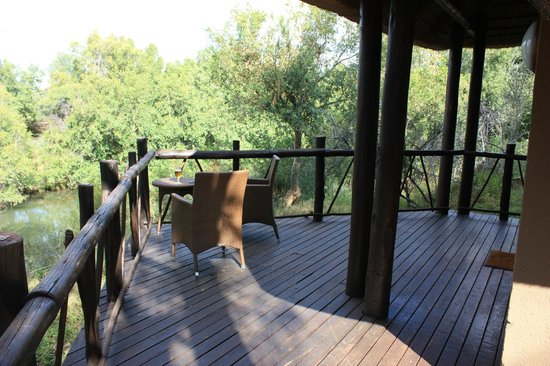 Madikwe River Lodge: View of the River and Reserve from our porch.