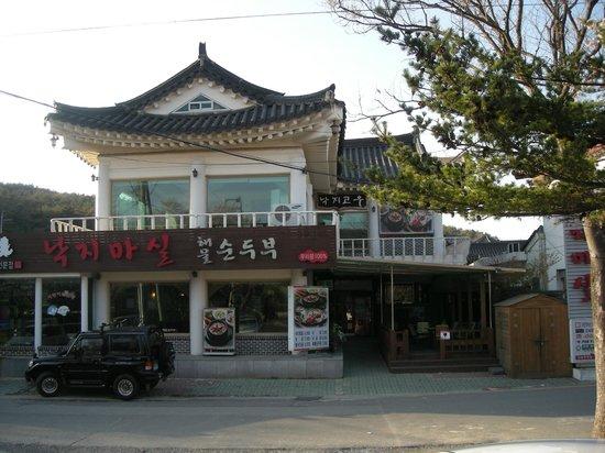 Bellus Rose Pension: The octopus restaurant at main road - no regrets!