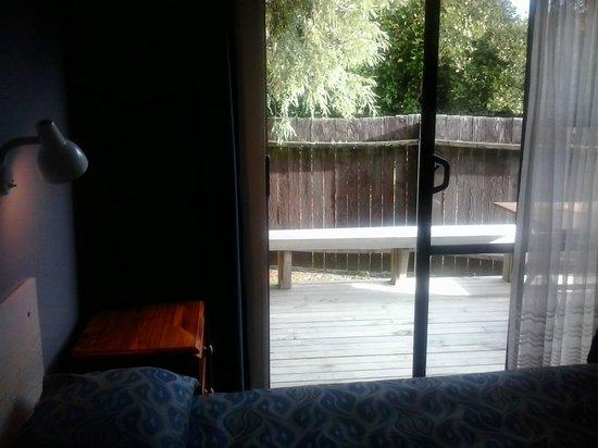 Judges Pool Motel: Deck view