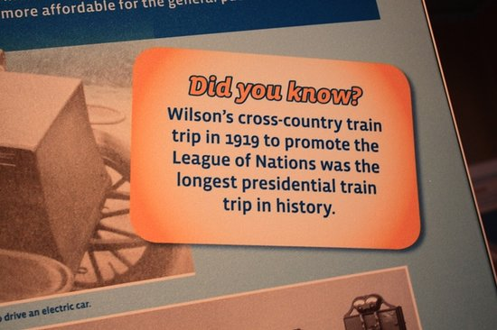 Woodrow Wilson Presidential Library and Museum: Interesting storyboards