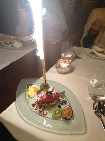 Tao's Restaurant, Lounge and Bar : Geburtstags-Dessert