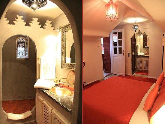 Salle de Bain + Chambre Orange - Riad Eden - Marrakech ...