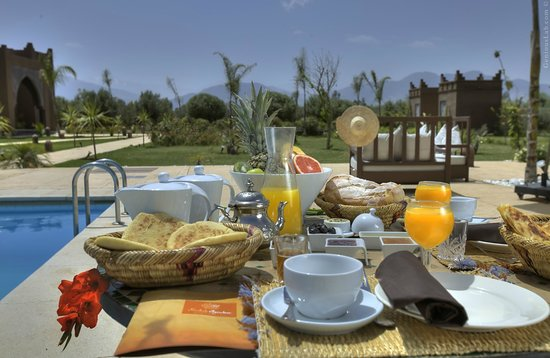 Lalla Takerkoust, Morocco: the breakfast