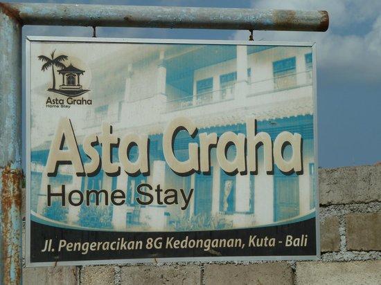 New Asta Graha Homestay: je mist dit makkelijk, dus kijk goed uit!