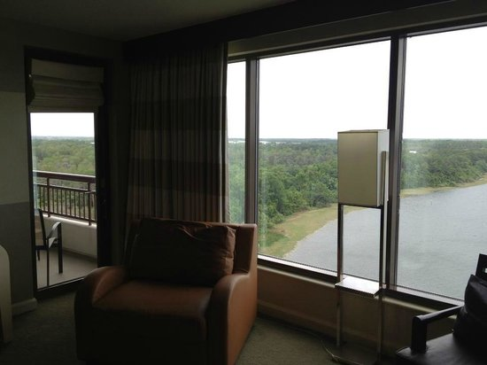 Bay Lake Tower at Disney's Contemporary Resort: (#8202 - 12th FL) Living room view - looking left