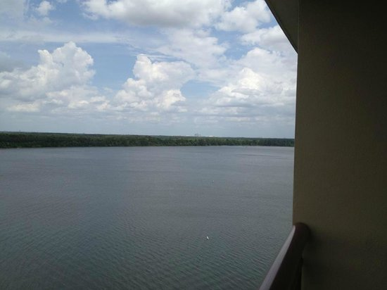Bay Lake Tower at Disney's Contemporary Resort: (#8202 - 12th FL) 2nd room balcony looking right