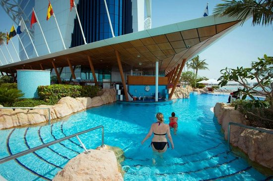 pool and swim up bar picture of burj al arab jumeirah