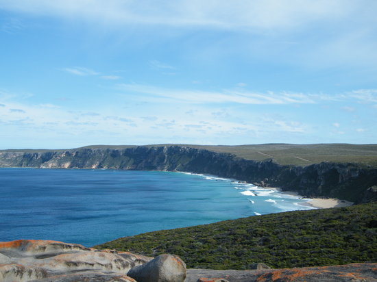Southern Ocean Lodge: view from remarkable rocks - wonders of KI tour