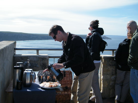 Southern Ocean Lodge: tea time kit and preparation