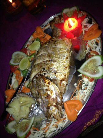 Papillon Beach Huts: Fresh Fish!!