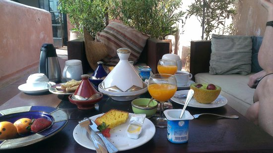 Riad Laaroussa Hotel and Spa: Breakfast
