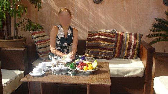Riad Laaroussa: Breakfast