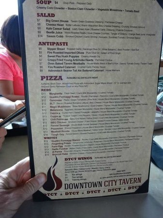 Downtown City Tavern: Menu