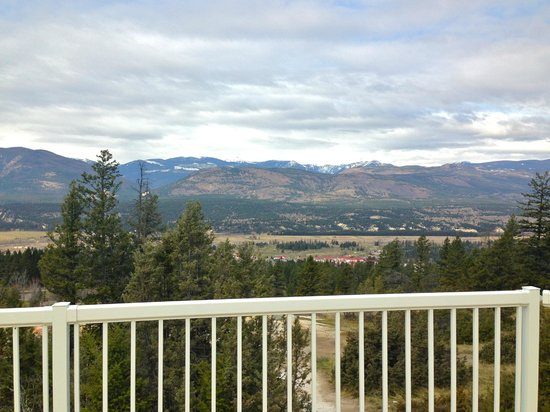 Fairmont Hot Springs Resort: view from a new platform built for special events-weddings etc