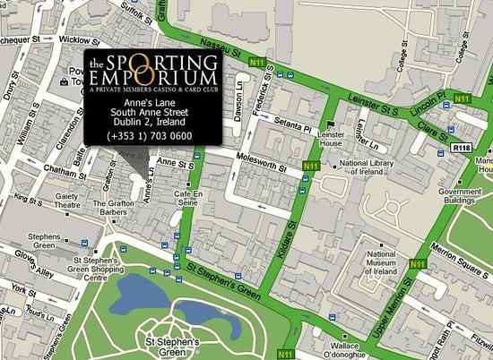 The Sporting Emporium Casino, Dublin: Find us (Map)