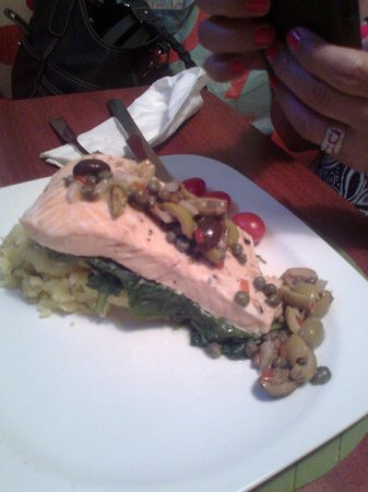 This is the extra-dry salmon my wife had