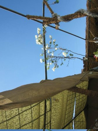 Boomerang Hotel : lying on a sunlounger on the roof looking at blue sky :)