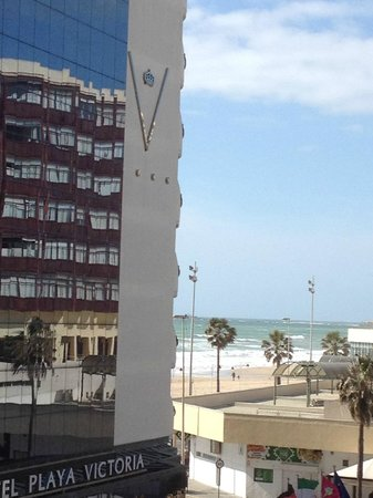 Hotel Spa Cadiz Plaza: вид из номера